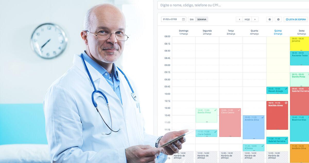 Como o iClinic ajuda a otimizar o tempo dos médicos?
