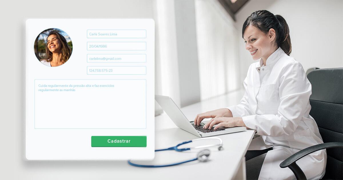 Qual a importância de cadastrar pacientes de forma completa?